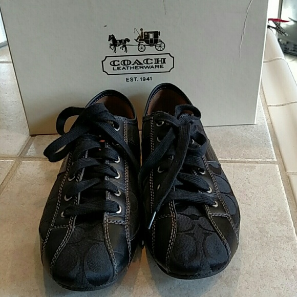 Coach Shoes - COACH all black tennis shoes, like new
