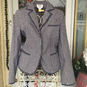 ⭐️SALE⭐️NWOT Talbots striped coat