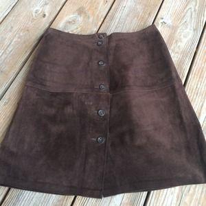 ⭐️SALE⭐️ Banana Republic Brown Leather Skirt