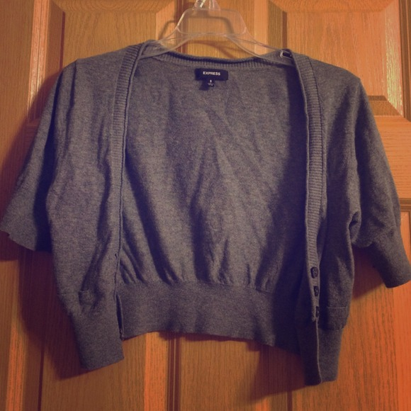 7ea9db218d0 Express Sweaters - Gray short sleeves cardigan from Express!