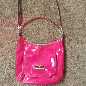 Coach Raspberry Pink Patent Leather Kristin Bag