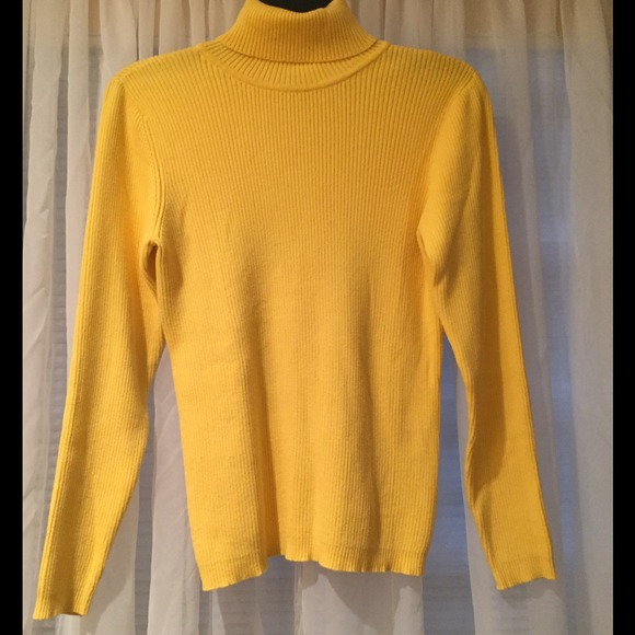 Gap Factory - Gap Factory Yellow Ribbed Turtleneck Sweater from ...