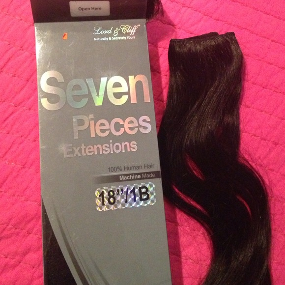 Lord Cliff Accessories Hair Extensions 7 Pieces Clip Ons 18