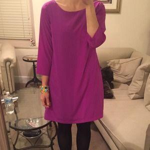Fuchsia Dress with 3/4 Sleeves