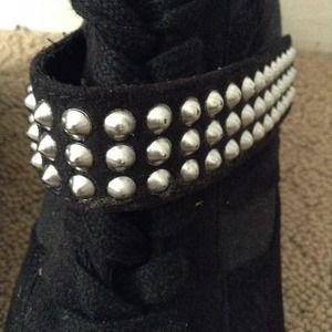 Black Studded Wedge Sneakers | Poshmark