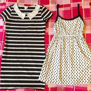 💕Bundle💕 black and white short dresses