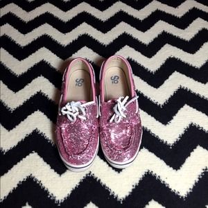 Shoes - Pink Sparkle Top-sides size 9