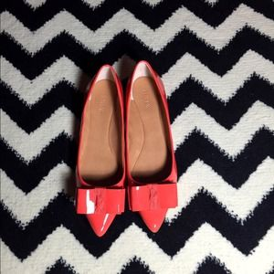 J. Crew Shoes - JCREW patent bow wedges orange. Brand new size 9