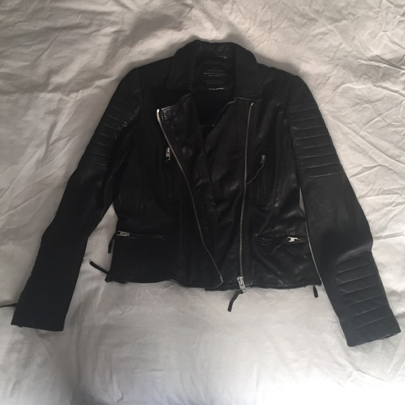 All Saints Jackets & Blazers - All Saints leather motorcycle jacket