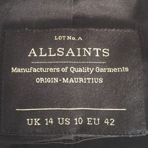 All Saints Jackets & Coats - All Saints leather motorcycle jacket