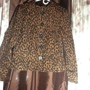 Charter Club leopard print jacket