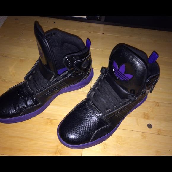 finest selection 5177d 248d9 Adidas Shoes - Adidas Roundhouse Mid 2.0 black black purple