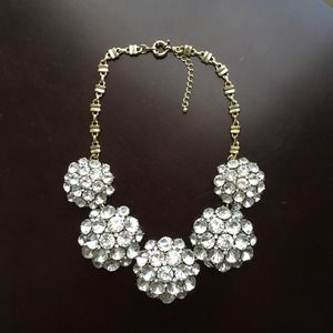 Crystal burst statement necklace