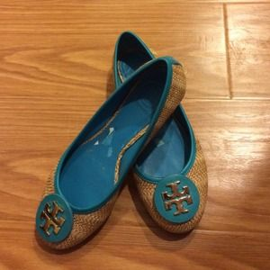 Tory Burch turquoise shoes