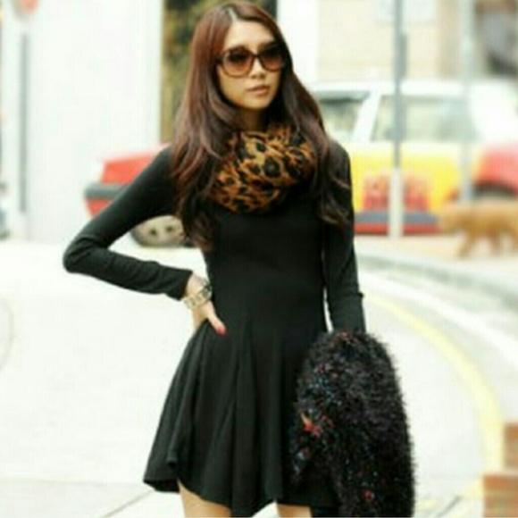 American Apparel Dresses   Skirts - 🚨SALE🚨 AA Black Long Sleeve Skater  Dress 2b055ae42