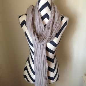 Silver sparkly scarf