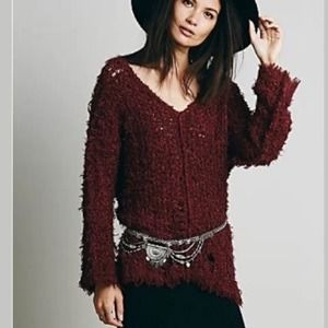 Free people up the ladder pullover sweater