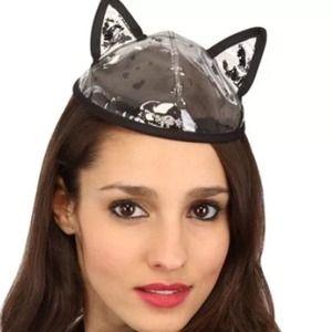 Maison Michel France Black Bibi Cat Ears Hat $270