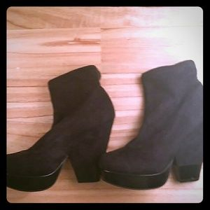 BCBG  suade ankle boots