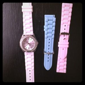 Interchangeable Rhinestone Guess Watch