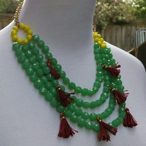 ☆HP☆ Yochi Mint Tassel Necklace