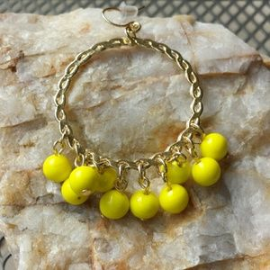 ☆HP☆ Yochi Yellow Cluster Bead Hoop Earrings