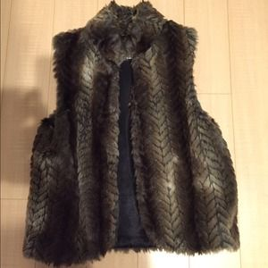 urban outfitters fur vest
