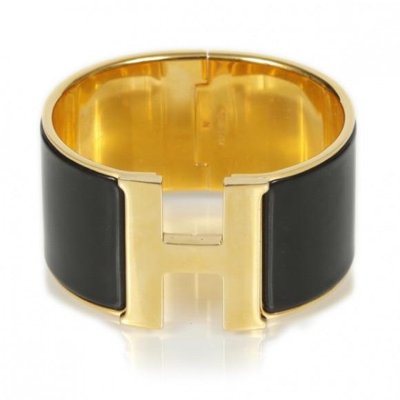 Hermes Jewelry   Black Clic Clac H Extra Wide   Poshmark ed1587d62c9