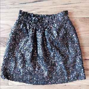 Sequin Skirt with Pockets