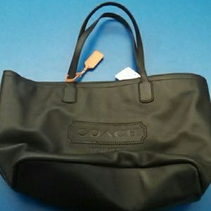 Coach Leather zip tote