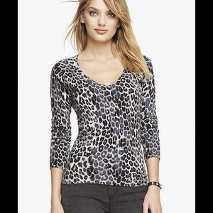Express Gray Leopard sweater