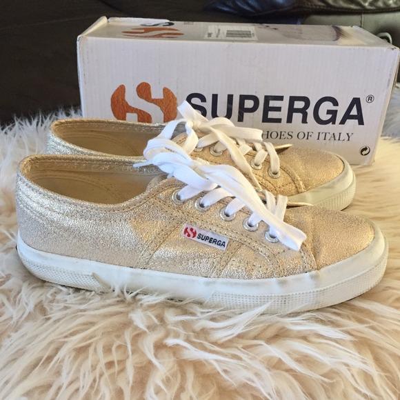 Gold Sparkle Superga Sneakers | Poshmark