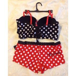 3af351db01f98 Disney Accessories - 💋New Item💋 Disney Minnie Mouse Bra   Panty Set