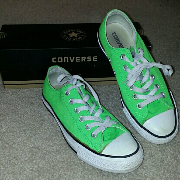 ab83fe2e8a84 Converse Shoes - Neon Green Low Top Converse