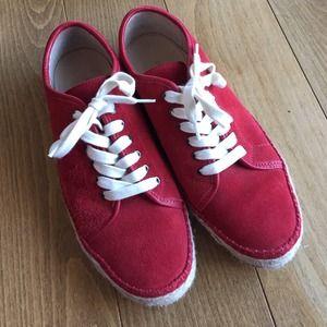 Rag & Bone red suede sneakers espadrilles shoes