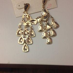 Pair of gold dangle earrings