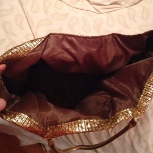 Bags - Gold Straw Tote Bag!