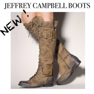 NEW Jeffrey Campbell Lace Up Boots