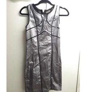 Metallic body-con dress.