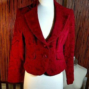Jackets & Blazers - Nine and Co Red Paisley Jacket