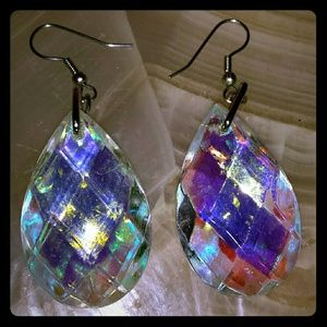 Hand made crystal earrings