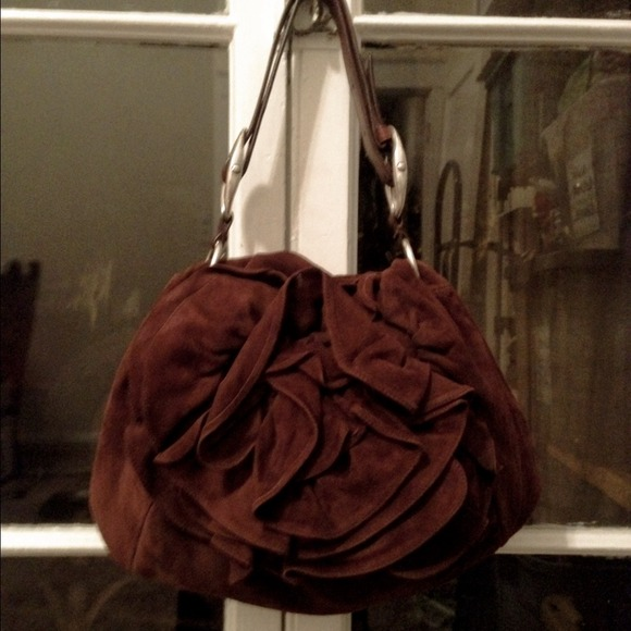 cc28fbe586d2 YSL Nadia Rose Flower Suede Bag. M 54adf298e84b031d3601078f. Other Bags you  may like. Saint Laurent Patent Leather ...