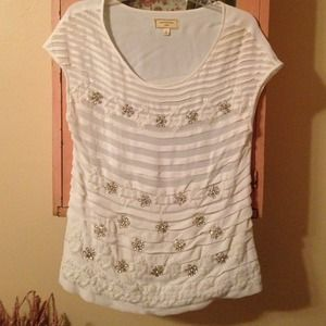 White & rhinestone top