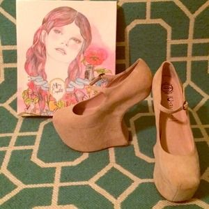 Jeffrey Campbell Shoes - Jeffrey Campbell Night Walk in Nude Suede!!! Sz 8
