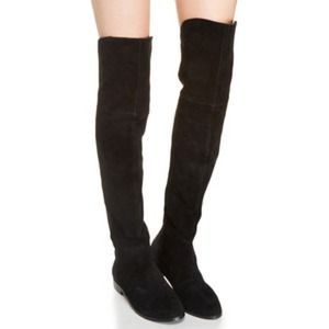 Chinese Laundry Over the Knee Boots- Black Suede