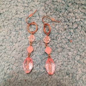 Pale pink dangling earrings