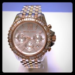 Michael Kors Tri-Tone Chronograph Watch