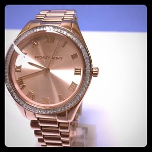 Michael Kors Blake Rose Tone Glitz Watch