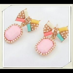 2 for $10 New Pastel Color Bow Earrings