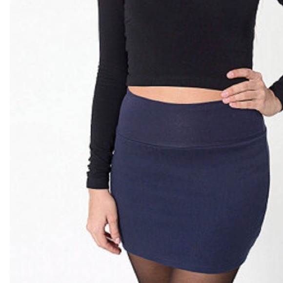 American Apparel - 2 American Apparel Navy Cotton Mini Skirts from ...